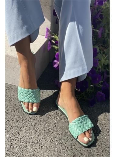 İnan Ayakkabı KADIN TERLİK Yeşil